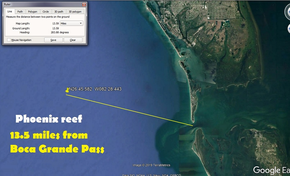 fishing reefs locations,latitude longitude, fishing information
